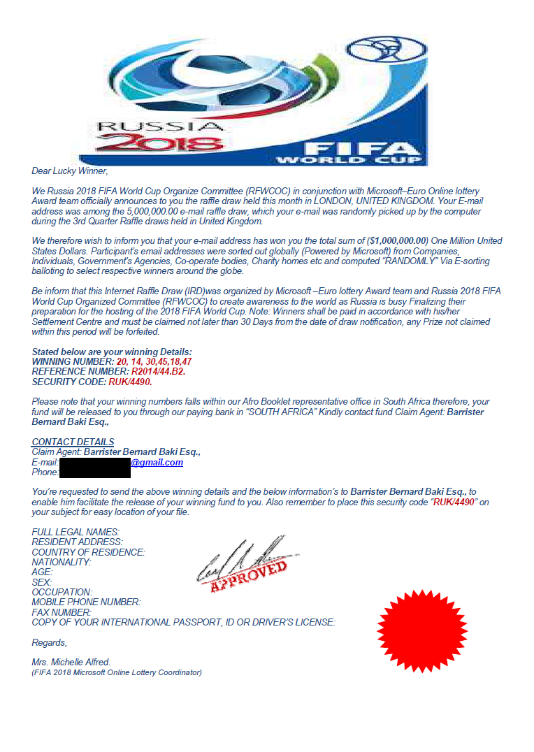 fifa email scam 4